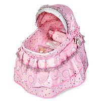 Кроватка детская для куклы DeCuevas 51134 одеяло подушка подвески плюш
