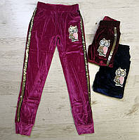 Велюрові штани для дівчинки Seagull 134-146 зростання