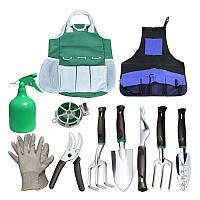 Набор садовый Lesko CG-6011 из 11 предметов с сумкой и фартухом (4471-13781a)