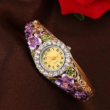 Годинник-браслет наручні жіночі з кристалами код 144