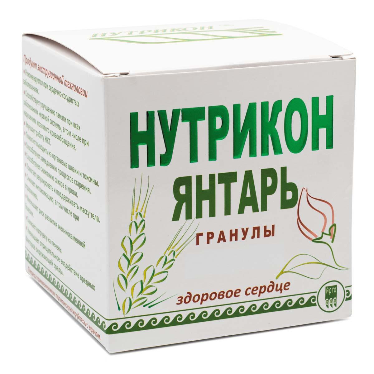 Нутрикон Янтарь Арго 350 г гранулы НИИ ЛОП и НТ для здоровья сердца