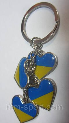 Брелок сердечка Україна, фото 2