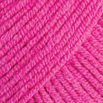 Пряжа для вязания Джинс ярко розовый 59