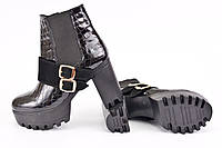 Ботинки женские кожа рептилия IK-1515
