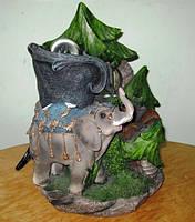 Фонтан декоративный комнатный настольный садовый домашний Слон подсветка шар