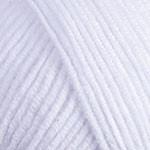 Пряжа для вязания Джинс белый 62