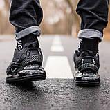 Кроссовки мужские в стиле Nike Air Max 720 termo Black, кроссовки Найк Аир Макс 720 термо (Реплика ААА), фото 4