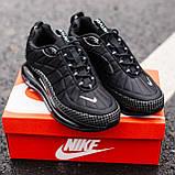 Кроссовки мужские в стиле Nike Air Max 720 termo Black, кроссовки Найк Аир Макс 720 термо (Реплика ААА), фото 5