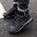 Кроссовки мужские в стиле Nike Air Max 720 termo Black, кроссовки Найк Аир Макс 720 термо (Реплика ААА), фото 2