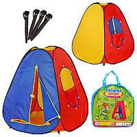 Палатка детская игровая M 0053, пирамида, 83-83-108см, вход на липучке, окно на липучке