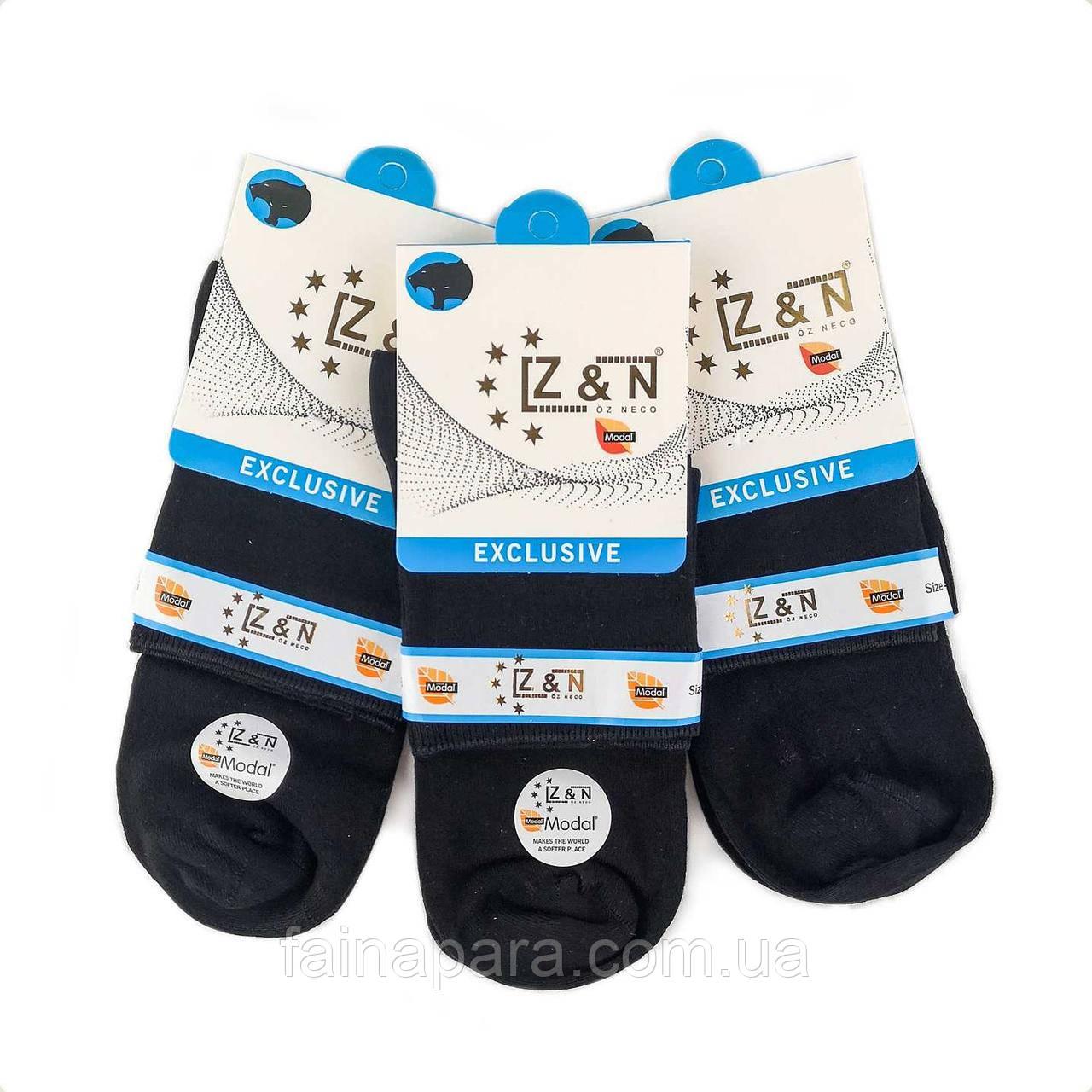Мужские бесшовные носки Модал черные Z&N Турция