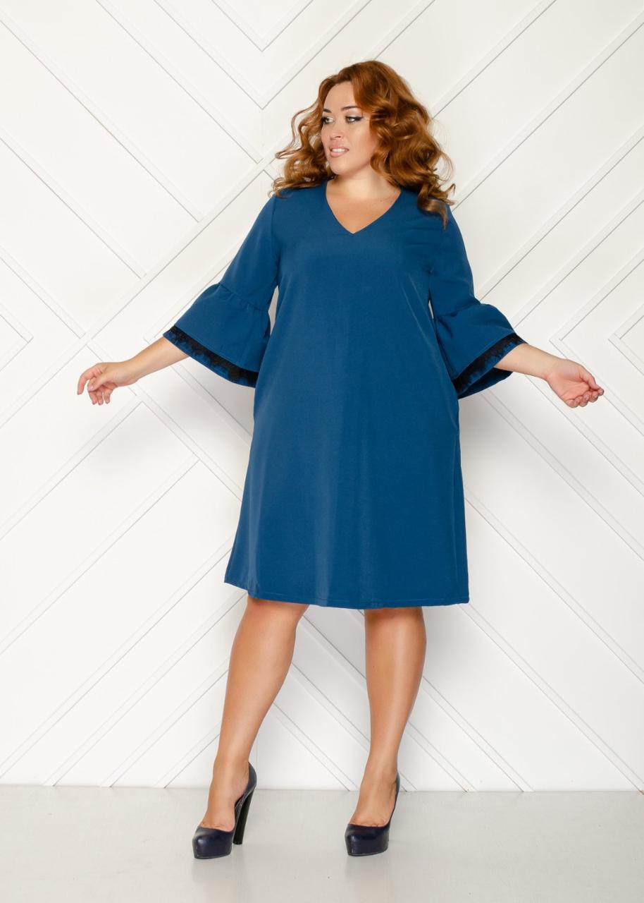 Нежное романтичное платье большого размера 50-56 (в расцветках)