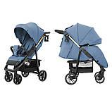 Прогулочная коляска CARRELLO Echo CRL-8508/2 с дождевиком, Azure Blue, фото 2