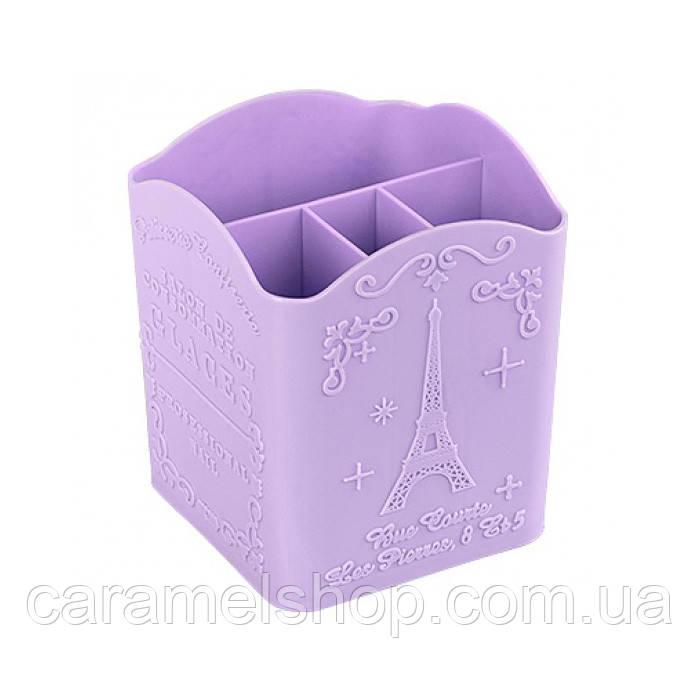 Подставка для пилочек и кистей Париж фиолетовый  цвет