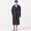 Мужской махровый халат Joop! серый с капюшоном, большие размеры 54-66 размер, фото 2