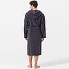Мужской махровый халат Joop! серый с капюшоном, большие размеры 54-66 размер, фото 3