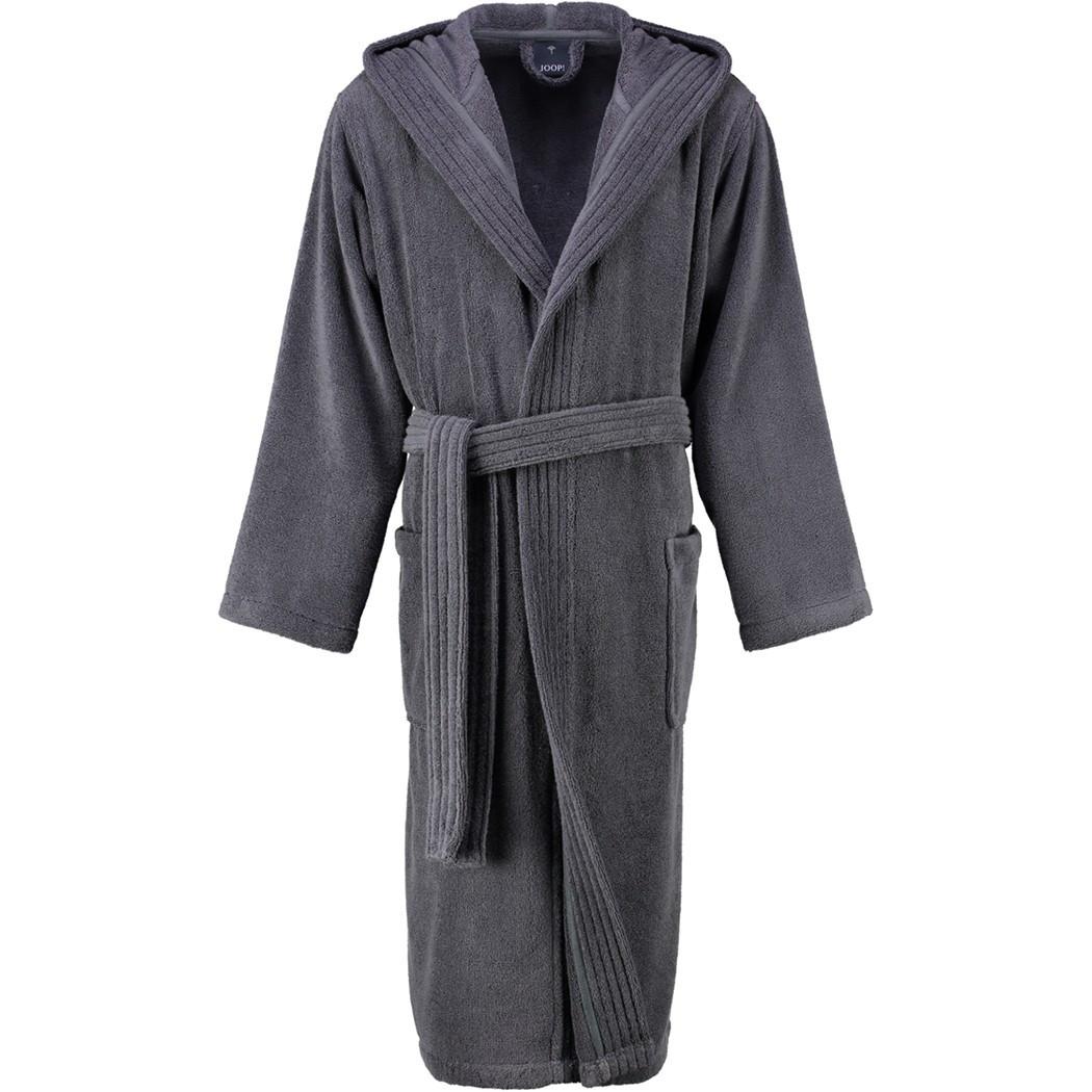 Мужской махровый халат Joop! серый с капюшоном, большие размеры 54-66 размер