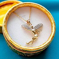 """Кулон """"Эльф"""" на цепочке медсплав - элегантный подарок подруге, любимой девушке, женщине в золотистой коробочке"""