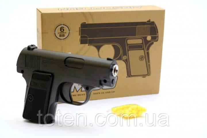 Пистолет металлический ZM03 стреляет пластиковыми пулями 6 mm детский