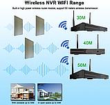 Комплект Wi-Fi IP 4 камеры 720P 1MP видео наблюдения ONVIF с регистратором, фото 2