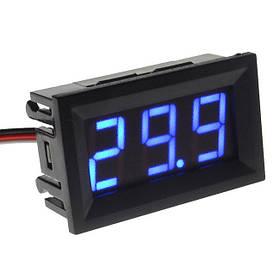 Цифровой вольтметр DC постоянного тока 0-100V панельный синий