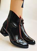 Женские осенне-весенние ботинки  средний каблук. Натуральная кожа.Высокое качество. Р. 38.39 Vistally, фото 2
