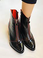 Женские осенне-весенние ботинки  средний каблук. Натуральная кожа.Высокое качество. Р. 38.39 Vistally, фото 9
