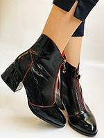 Женские осенне-весенние ботинки  средний каблук. Натуральная кожа.Высокое качество. Р. 38.39 Vistally, фото 5