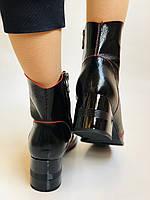 Женские осенне-весенние ботинки  средний каблук. Натуральная кожа.Высокое качество. Р. 38.39 Vistally, фото 8