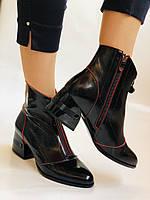 Женские осенне-весенние ботинки  средний каблук. Натуральная кожа.Высокое качество. Р. 38.39 Vistally, фото 7