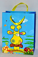 Подарочные пакеты детские упаковка 12 шт 32-26-12 см