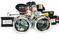 Би-ксеноновые линзы Cyclone G5 и ксенон  полный установочный комплект с проводкой