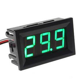 Цифровой вольтметр DC постоянного тока 0-100V панельный зеленый