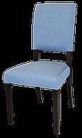 Деревянный стул с мягкими спинкой и сиденьем. Синий. Покрыт маслом. Для дома, офиса, ресторана. МГ-041