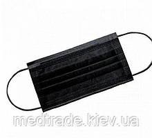 Маска медична чорна 50 шт