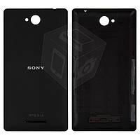 Задняя панель корпуса (крышка) для Sony Xperia C C2305 S39h, черный, оригинал
