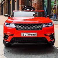 Детский электромобиль джип Land Rover (красный цвет) с пультом дистанционного управления