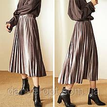 Спідниця-плісе жіноча модна з поясом розмір універсальний 42-48, купити оптом зі складу 7 км Одеса