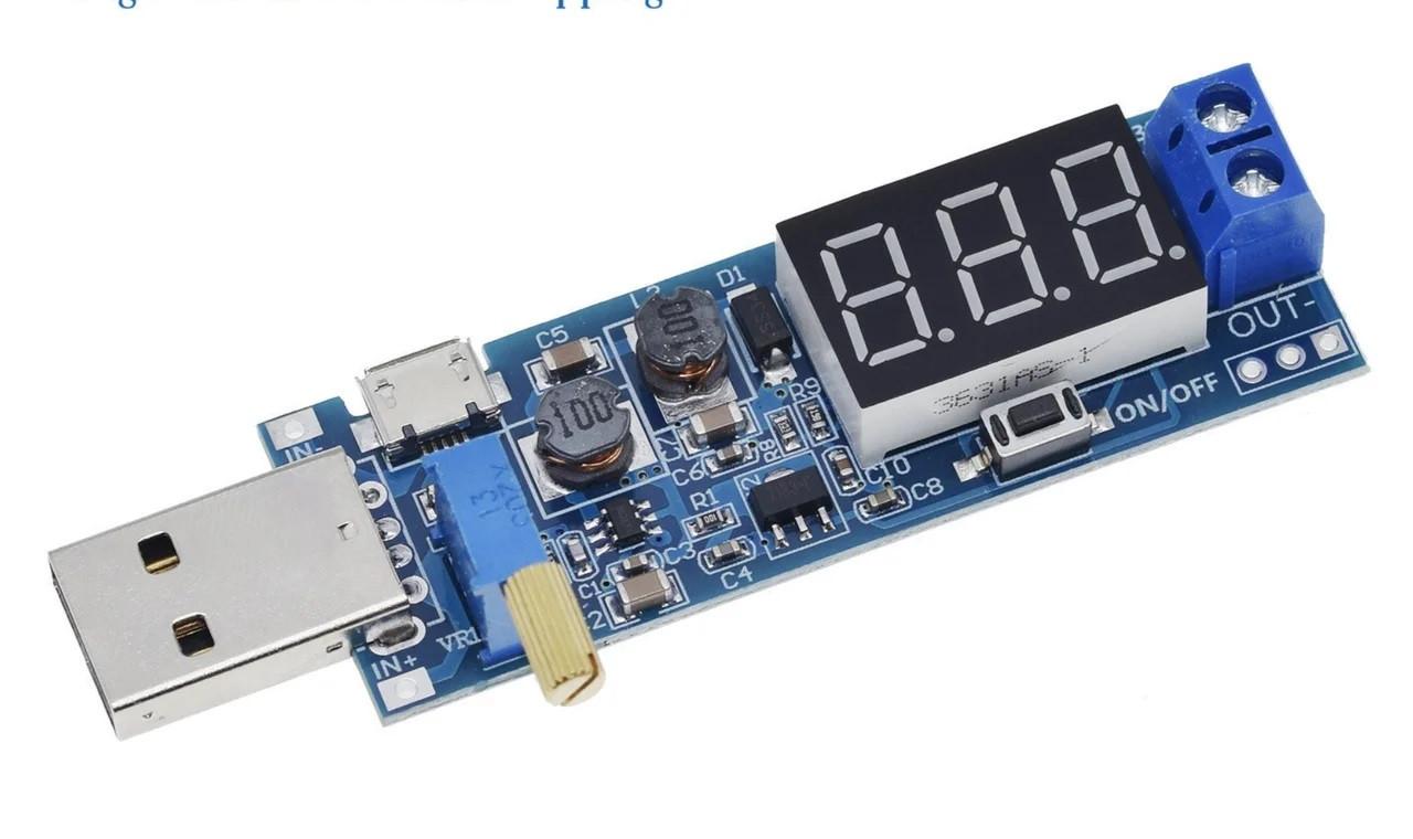 Комбінований понижуючий перетворювач/підвищує USB DC-DC 3.5-12В - 1.2-24В