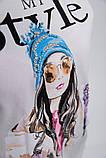 Батник женский 123R18016 цвет Белый, фото 5
