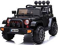 Детский электромобиль Джип (черный цвет) с пультом радиоуправления