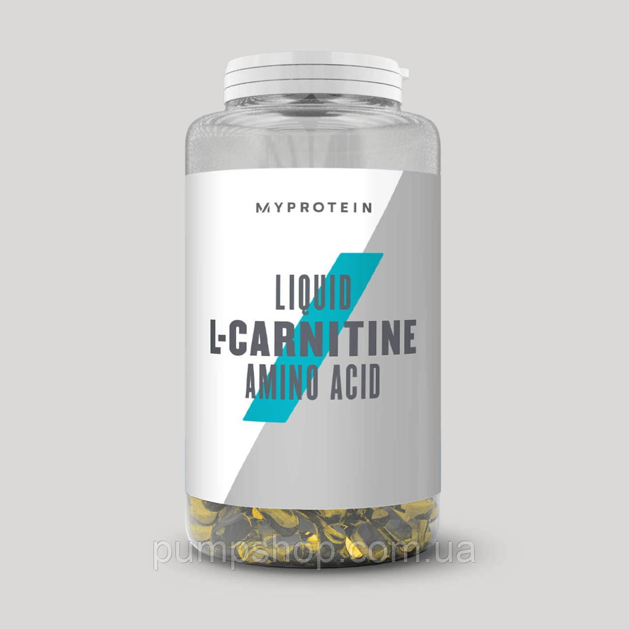 Л-карнитин жидкий в капсулах MyProtein Liquid L-carnitine 270 капс.(135 порций)