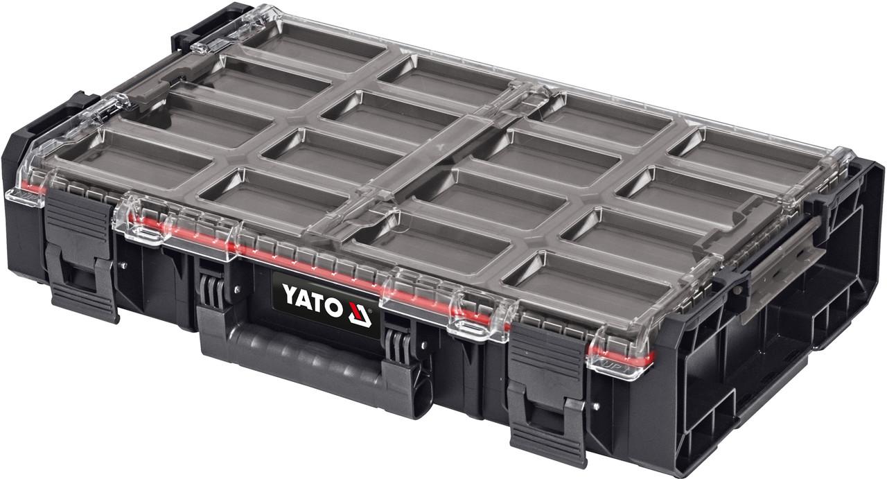 Органайзер системный XL S1 с контейнерами YATO YT-09180