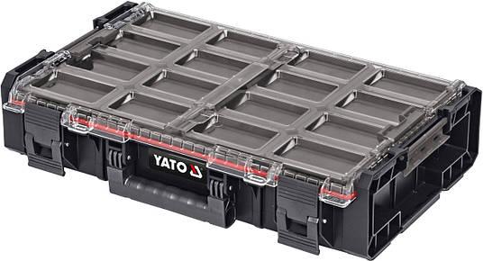 Органайзер системный XL S1 с контейнерами YATO YT-09180, фото 2