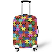 Чехол на чемодан Пазл Ячейка памяти CooLost L Разноцветный