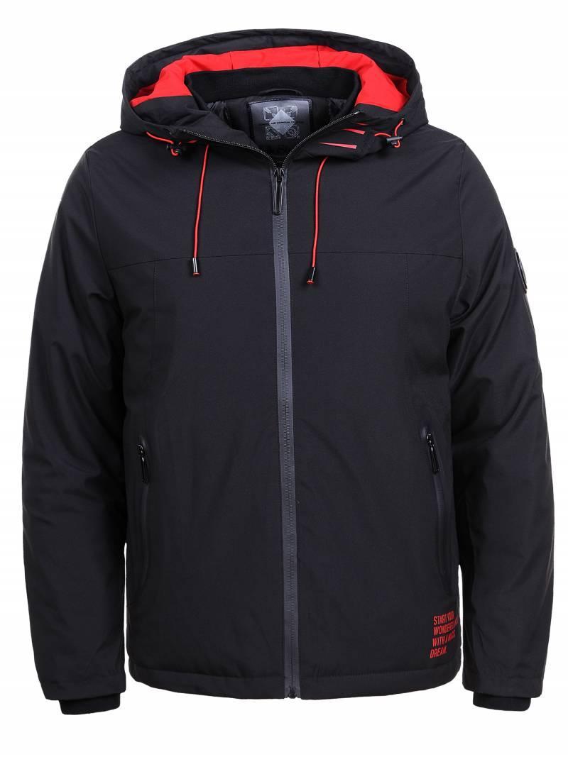 Куртка мужская демисезонная черная Glo-Story XXL