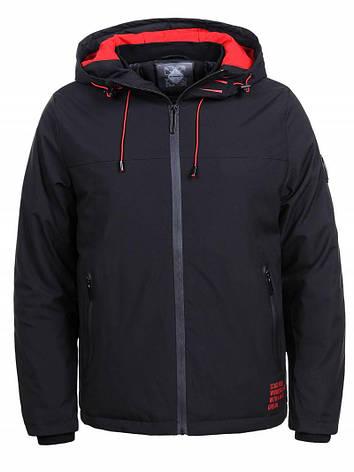 Куртка мужская демисезонная черная Glo-Story XXL, фото 2
