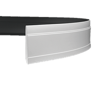 Плинтус напольный 1.53.102 гибкий, длина 2м, Европласт
