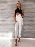 Светлые женские брюки 39-409, фото 4