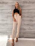 Светлые женские брюки 39-409, фото 5